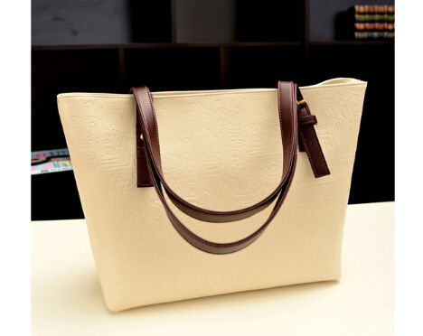 Top handle shopping Bag with Embossing
