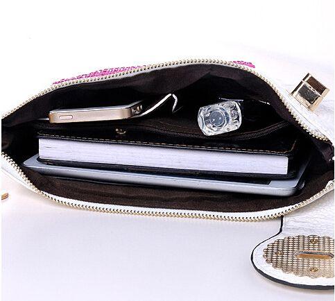 PU Leather Christian Louboutin Wristlet coin purses