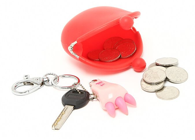 Silicone candy store coin purse wallet case rubber pochi jelly girls pouch
