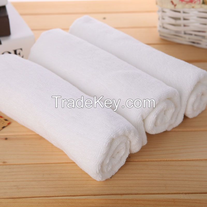100% Cotton Face Towels White for hotel