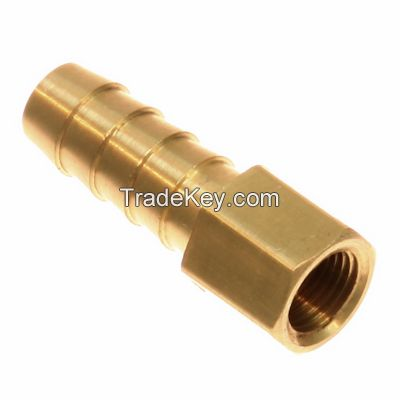 Hose barb to female pipe / machined threaded brass