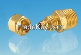 Brass Male Connector / machined threaded brass/ quick connector