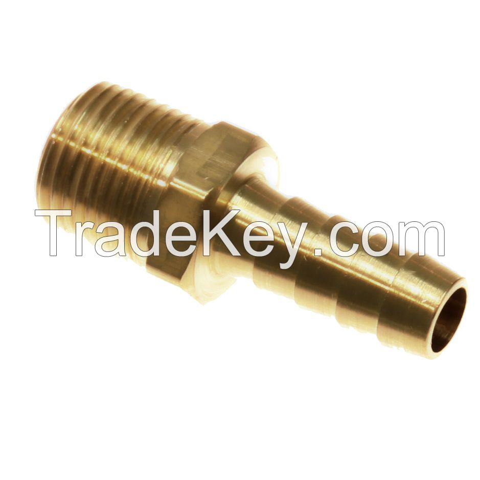 Hose barb to male pipe / machined threaded brass