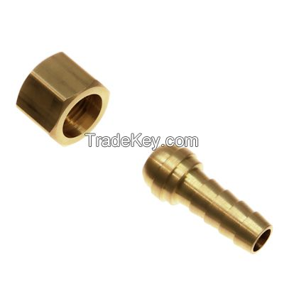 swivel nut and hose barb / machined threaded brass