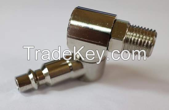 Swivel Connector/ metal connector/ pneumatic tools parts/ CNC machining parts