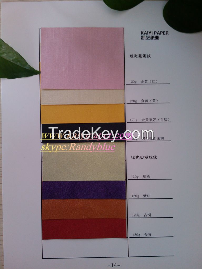 Wood Pulp Metallic Paper/Pearl paper/Pearlescent paper/Packing paper