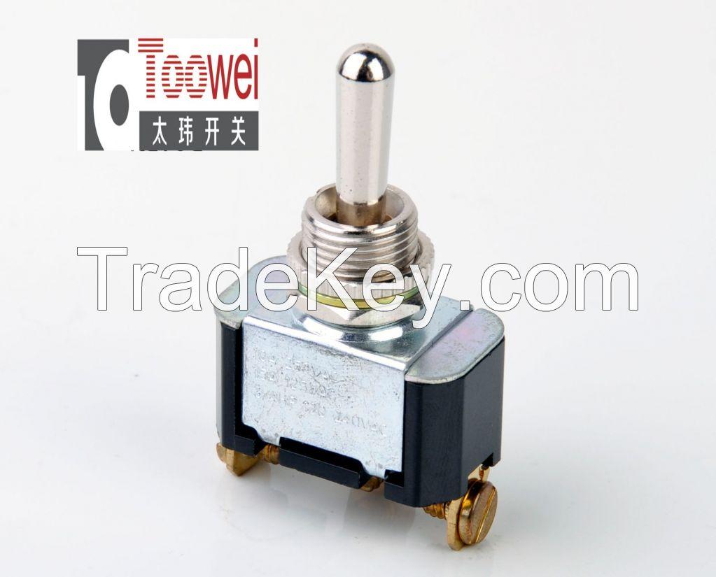 SPDT Toggle switch ON-OFF-ON M12 10A 250V Rocker switche