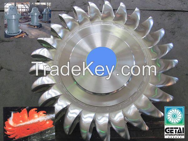 Mini impulse turbine hydraulic power station