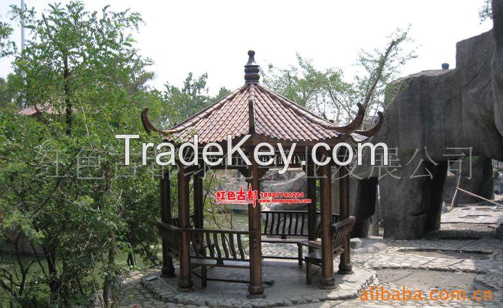 hexagon pavilion/gazebo, garden pavilion/gazebo