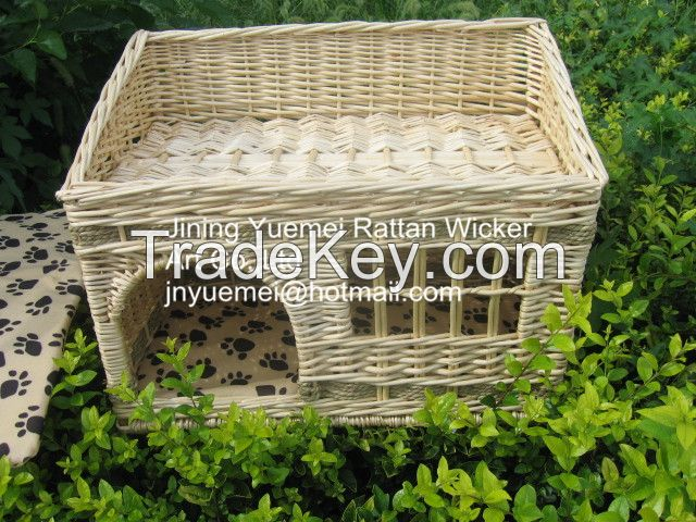 wicker dog house wicker pet basket willow dog bed Christmas for your pets