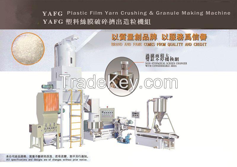 YAFG-80 type plastic film yarn crush extruding granule-making production line