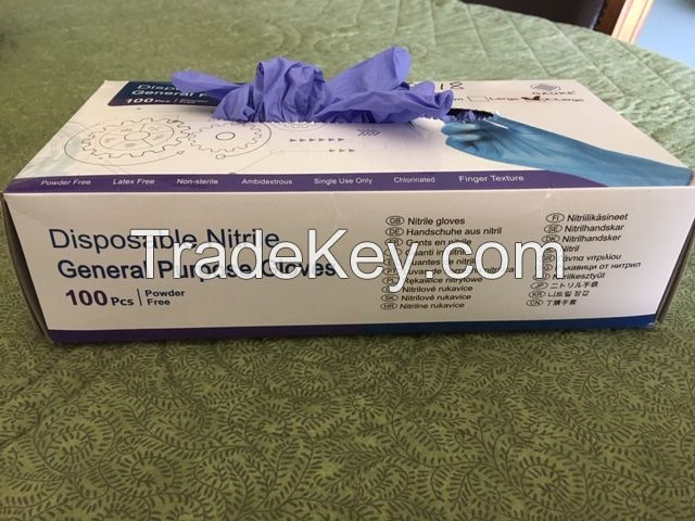 Disposable Nitrile General Purpose Gloves