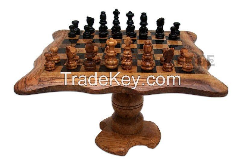 Olive Wood chess set board