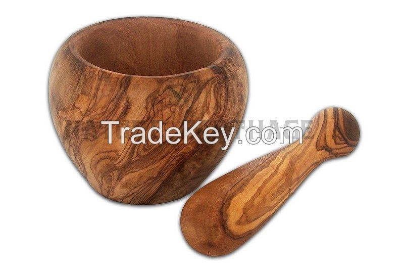 Olive Wood mortar