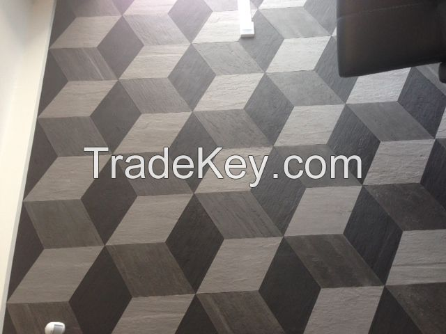 Unfired clay floor and wall finishes