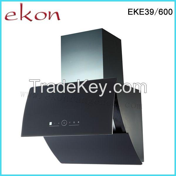 60cm Black Glass Automatic Open Range Hood