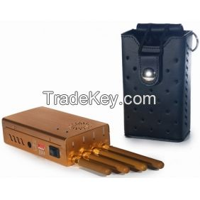 2014 New Handheld Four Bands Cell Phone GPS Jammer with Single-Band Control