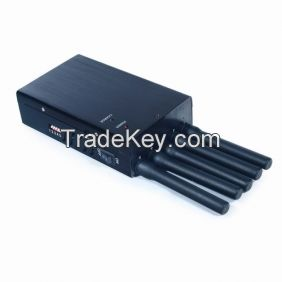 5 Bands Handheld 3G Cell Phone Jammer, Wifi Jammer with Single-Band Control