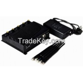 Adjustable Five Bands Signal Jammer for 4G, 3G Cell Phone Signals
