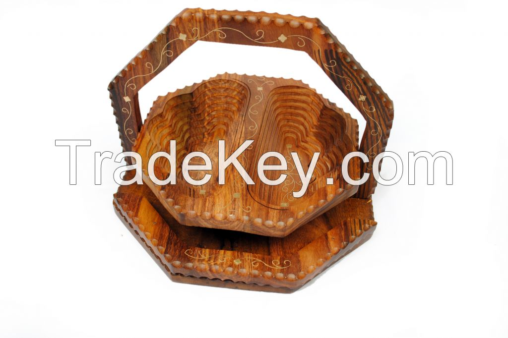 Fruit Spring Baskets, wooden clocks, Ashtrays, tissue and jewelry box