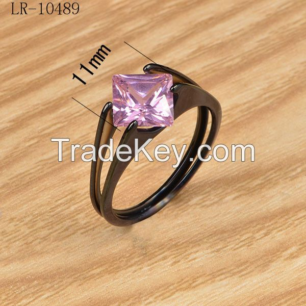 11mm fine jewelry woman High Polished Solid Stainless Steel ring