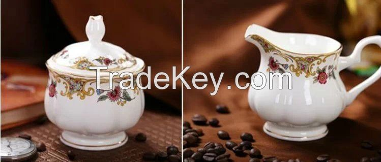 Gold decal coffee set