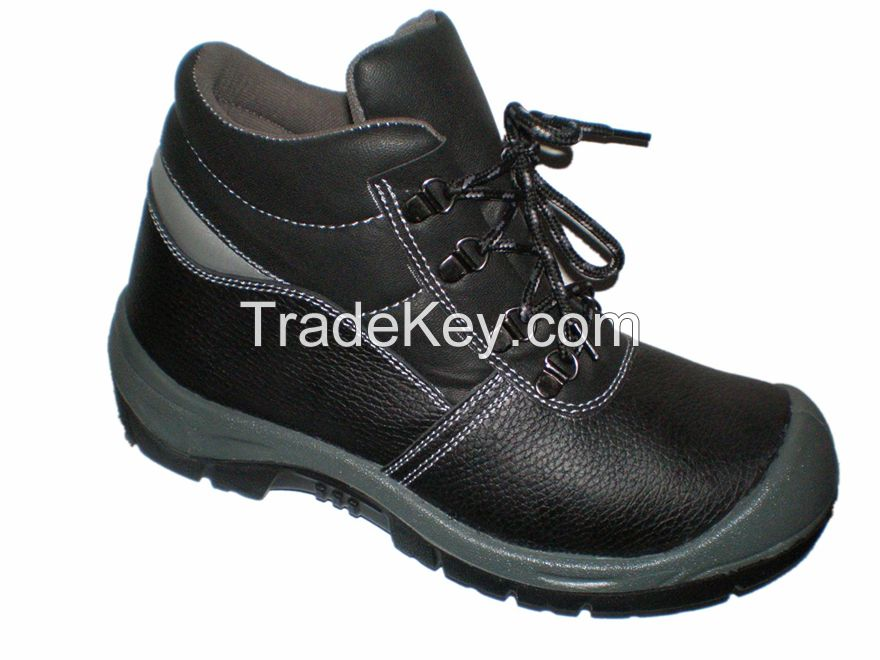 Export the PU injection leather safety shoes