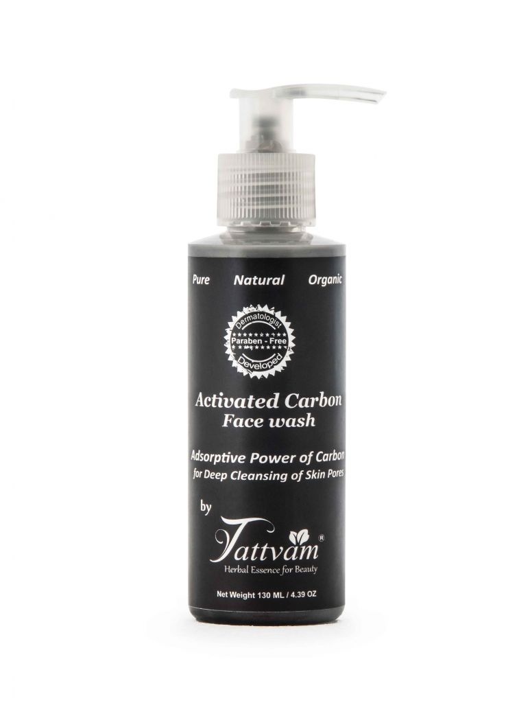 Activated carbon face wash