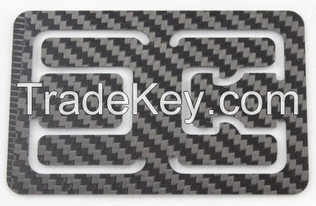 Carbon Fiber Money Clip Minimalist Flexy RFID Blocking Card Holder Bottle Opener