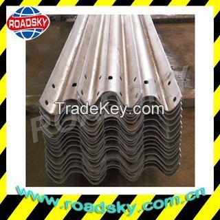 Hot Dip Galvanized Road Safety Metal W Beam Crash Barrier