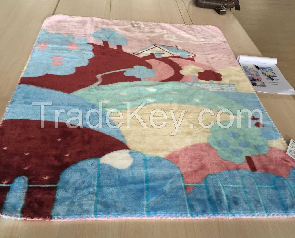 Raschel Mink Baby Blanket