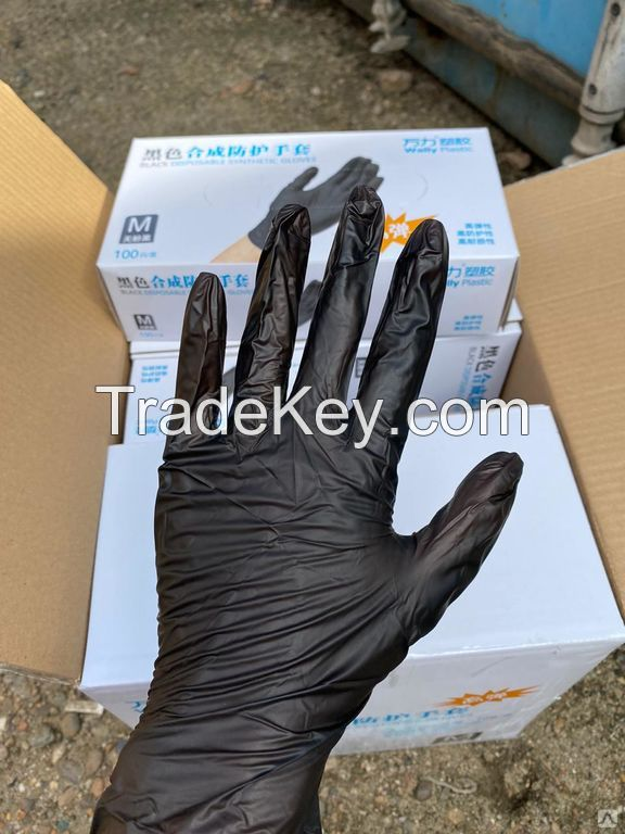 Top Best Quality Power Free Natural Latex Gloves / Nitrile Disposable Gloves Disposable Nitrile Gloves / Disposable PVC Gloves