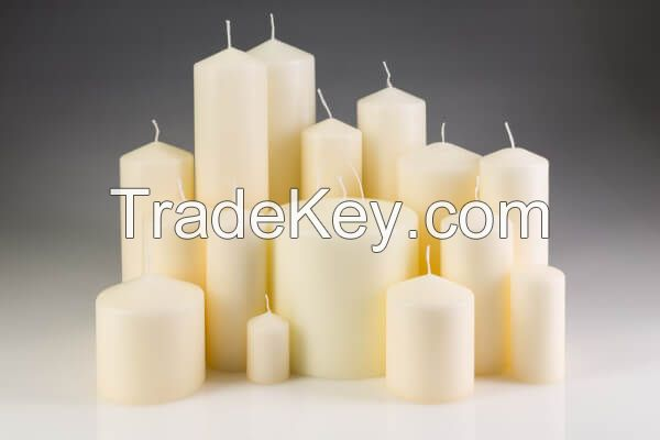 Big White Pillar Church Candle and Parafin Wax Available