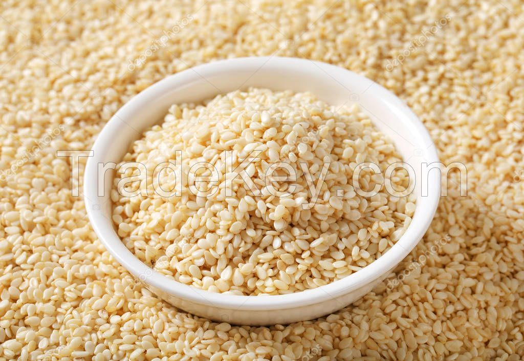 HEALTHY HULLED WHITE SESAME SEEDS AVAILABLE