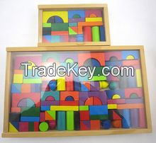 wood building block toy