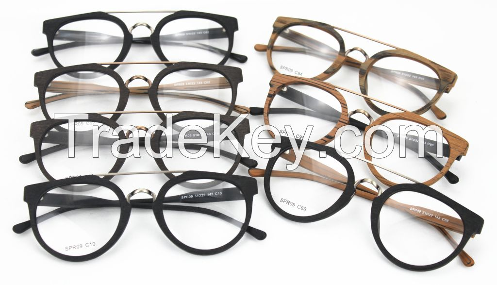 Direct Manufacturer Faux Wood Acetate Classic Optical Frame SPR09