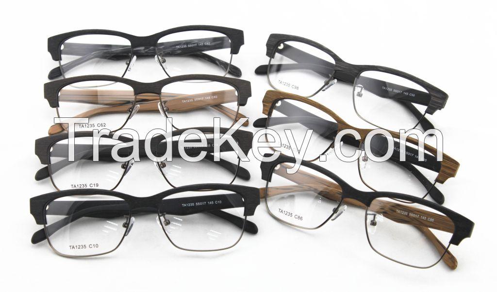 High Quality Faux Wood Acetate Classic Optical Frame TA1235