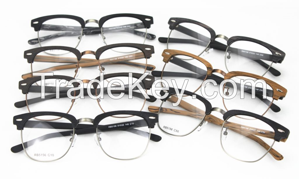Direct Manufacturer Faux Wood Acetate Classic Optical Frame RB5156