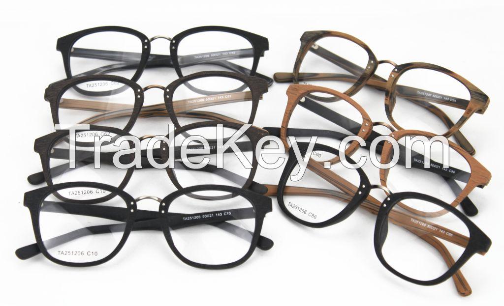 Brand New Faux Wood Acetate Antique Optical Frame TA251206