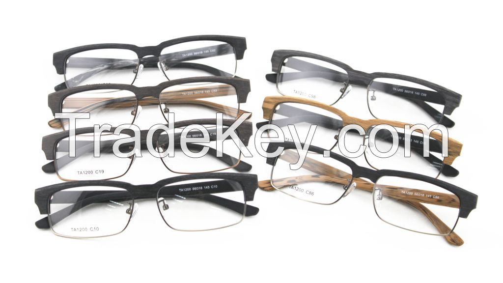 Hot Sale Faux Wood Acetate Classic Optical Frame TA1200