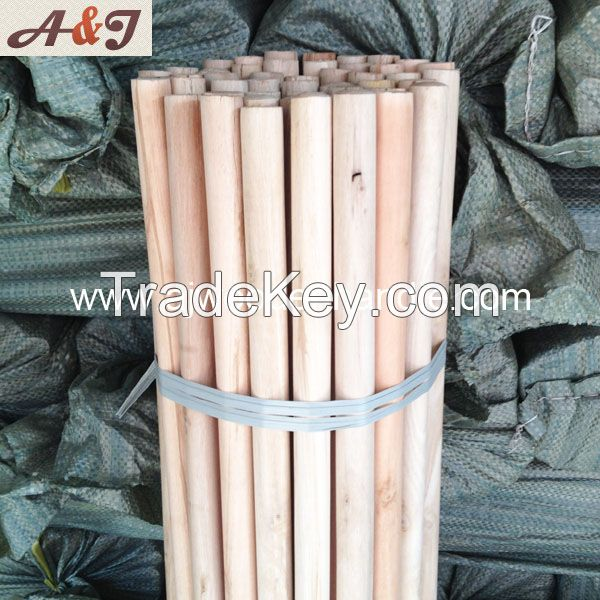 Natural wooden brush handle