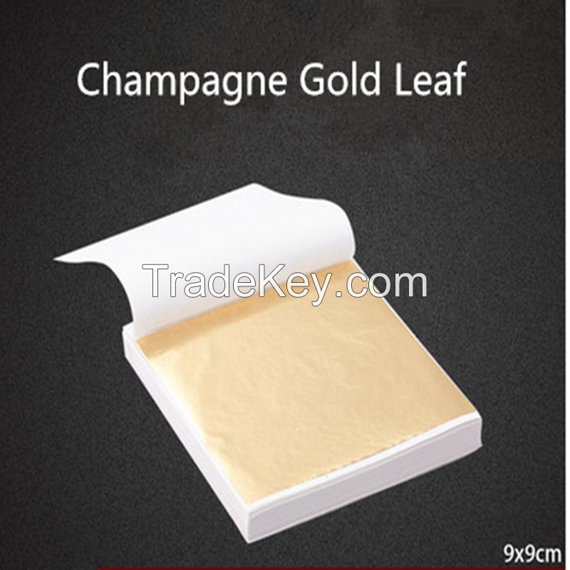 2017 hot selling taiwan imitation champange gold leaf for furniture chair decoration