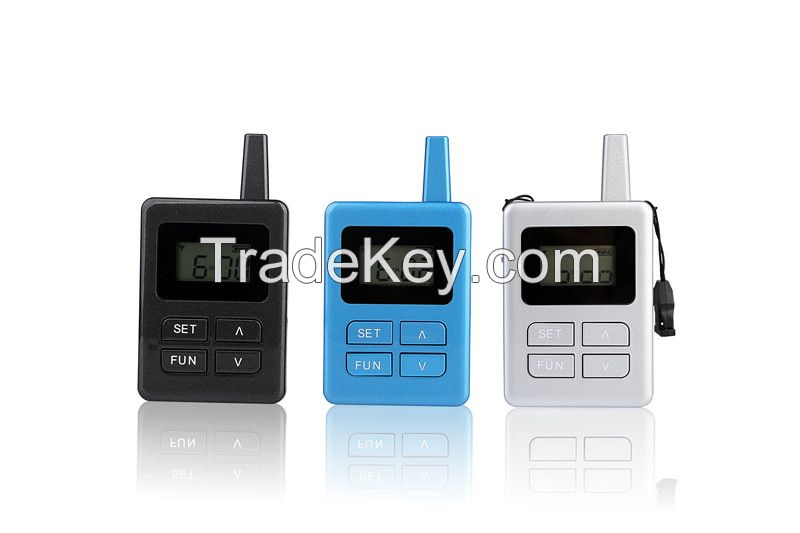Portable wireless audio tour guide system Package
