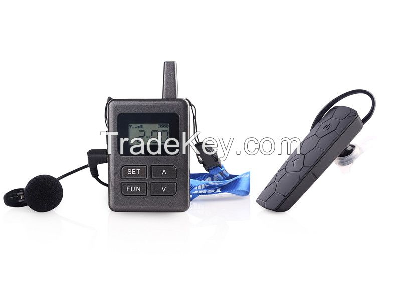 Wireless audio tour guide system 2pc (Transmitter + Receiver)