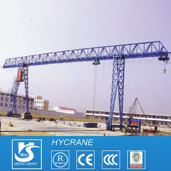 MH BMH MHL Model Electric Hoist Single Girder Gantry Crane