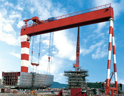 10-900T Shipbuilding MEC Double Beam/Girder Gantry Cranes for Sale
