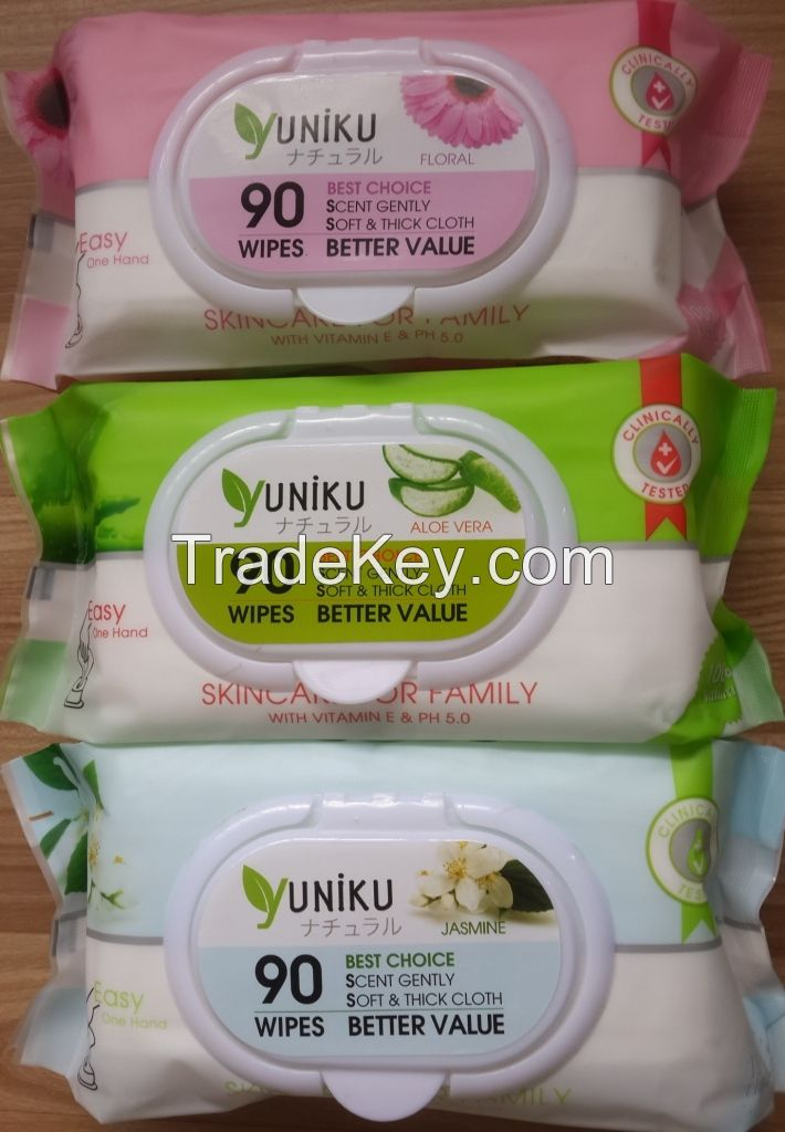 90 sheets baby wet wipes , Best price for Distributor