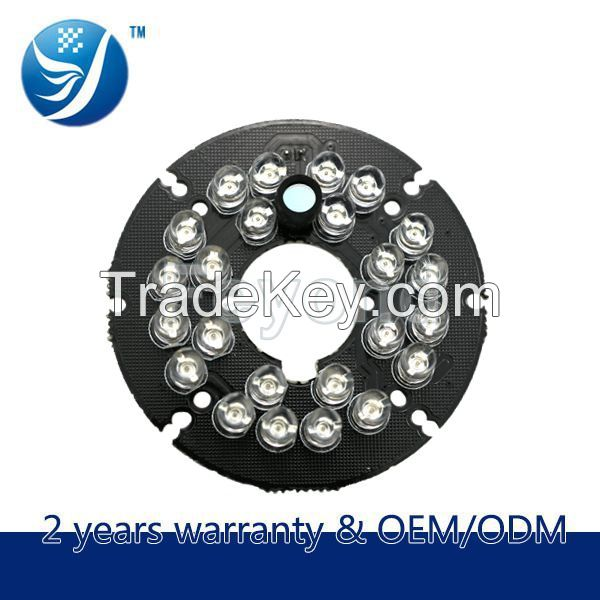 24 Infrared LED Bulb 2.8/3.6/6/8/12MM Infrared Camera Board For Dome C