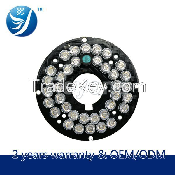 36 Infrared LED Bulb 2.8/3.6/6/8/12MM Infrared Camera Board For Dome C
