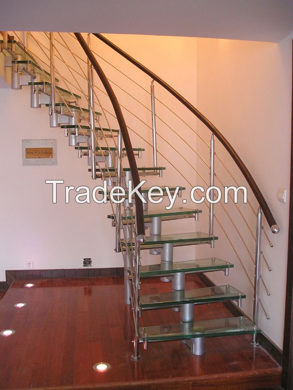 Slip-proof stair glass  3-19mm Tempered glass for staircase